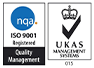 ISO 9001 Certification with UKAS Logo